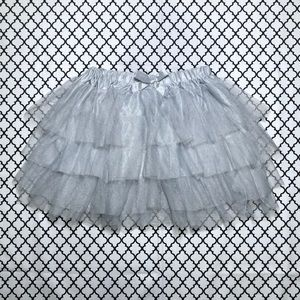 Beautiful Hot Topic Sliver Gray Glitter Tutu Skirt